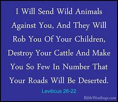 Image result for Leviticus 26 : 21- 22