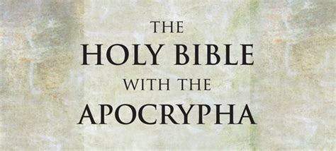 Image result for the apocrypha