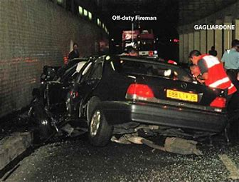 Image result for princess diana car crash images
