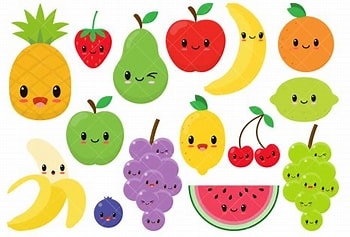 Image result for Fruit Clipart. Size: 150 x 100. Source: www.creativefabrica.com
