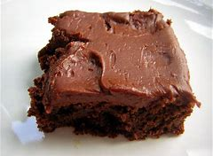 Image result for images for gooey frosted chocolate brownies