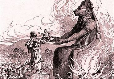 Image result for images of human sacrifice to moloch
