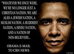 Image result for barrak obama america is no longer a christian nation