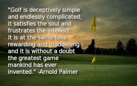 Image result for what arnold palmer said about golf game