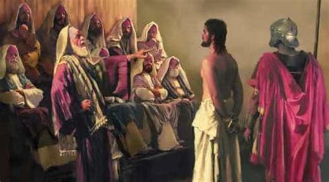 Image result for the unfair trial and abuse of Jesus in the Bible