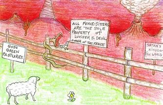 Image result for satan owns the fence
