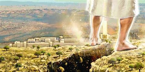 Image result for jesus returns on the mountain of jerusalem