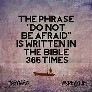 Image result for Do Not Be Afraid