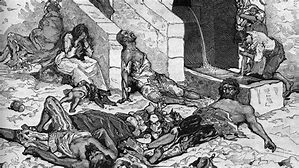 Image result for the pestilence in the bible killed many israelites