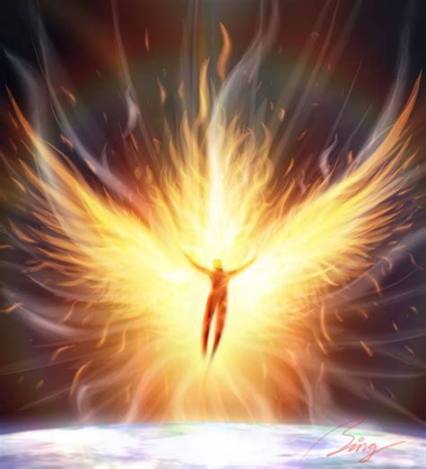 Image result for angel with power over fire