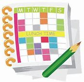 Image result for free clip art of schedules