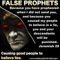 Image result for FALSE PROPHETS IN jeremiah's time