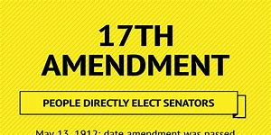 Image result for 17th Amendment