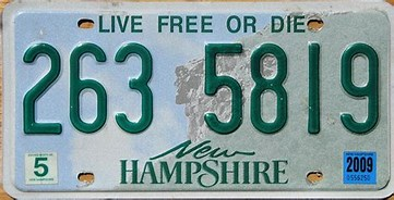 Image result for live free or die license plate