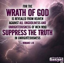 Image result for God will pour his wrath out on the World