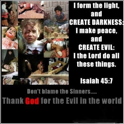 Image result for God is to blame for all the voilence in the world