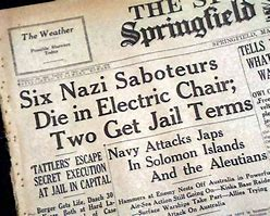 Image result for FBI announced the capture of eight Nazi saboteurs