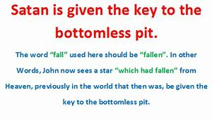 Image result for And the Bottomless Pit Satan
