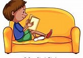 Image result for Free Clip Art of Child Reading on Couch
