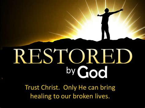 Image result for God restores
