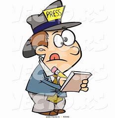 Image result for images of cartoon news reporter