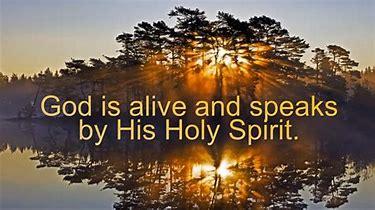 Image result for god speaks through Holy Spirit