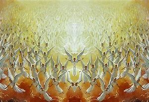Image result for the Lord stands before his angelic army
