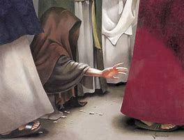 Image result for WHEN JESUS PASSED BY SOMEONE TOUCHED HIM AND THE VIRTUE