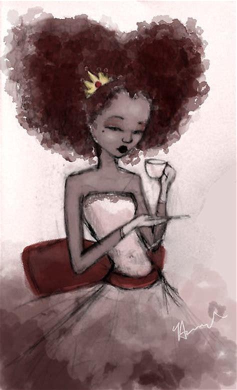 Black Woman Natural Hair Art