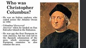 Image result for Christopher Columbus, an Italian explorer, sighted Watling Island