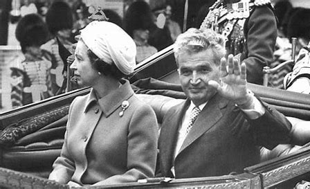 Image result for nicolae ceausescu and hm the queen images