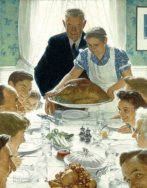 Image result for images norman rockwell paintings sunday dinner