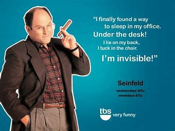 Image result for george costanza under his desk