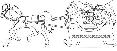 Résultat d'images pour dessin pere noel poney