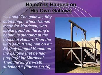 Image result for Haman hung on his own gallows