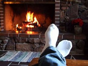 Image result for Relaxing by Fireplace