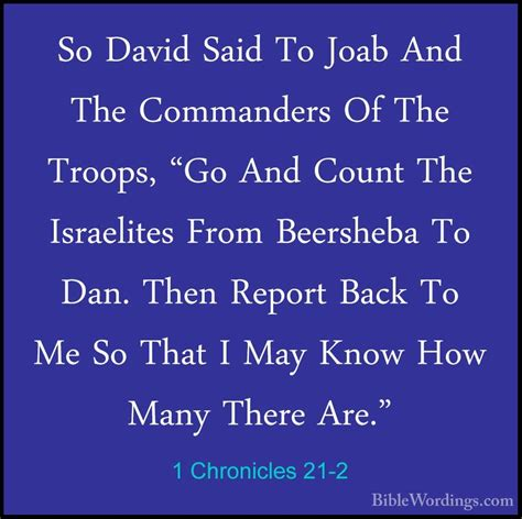 Image result for Joab could not say no to David about the census in the bible