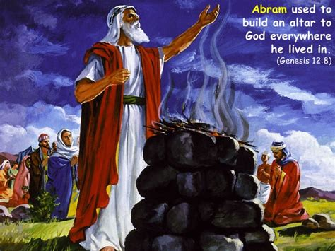 Image result for aBRAM BUILT ALTERS TO gOD