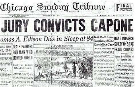 Image result for Al Capone was convicted on income tax evasion
