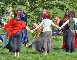 Image result for wiccan worshiping the earth