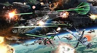 Image result for Space Battle Wallpaper. Size: 200 x 110. Source: wallpapercave.com