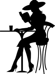 Image result for Female Silhouette Clip Art Reading