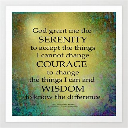 Image result for Serenity Prayer. Size: 204 x 204. Source: society6.com