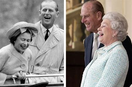 Image result for hm the queen and duke of edinburgh laughing images