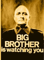 Image result for images Orwell Big Brother. Size: 151 x 204. Source: quotesgram.com