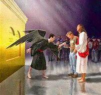 Image result for satan standing beside Joshua