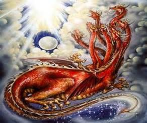 Image result for red dragon in the book of revelation