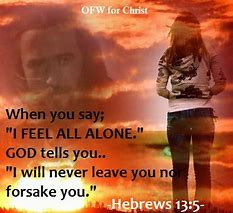 Image result for Hebrews 13:5