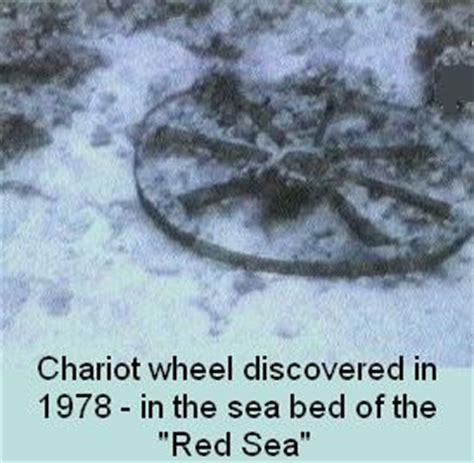 Image result for Red Sea Chariot Wheels Found at Bottom Of