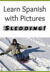 Image result for learn spanish pictures sledding